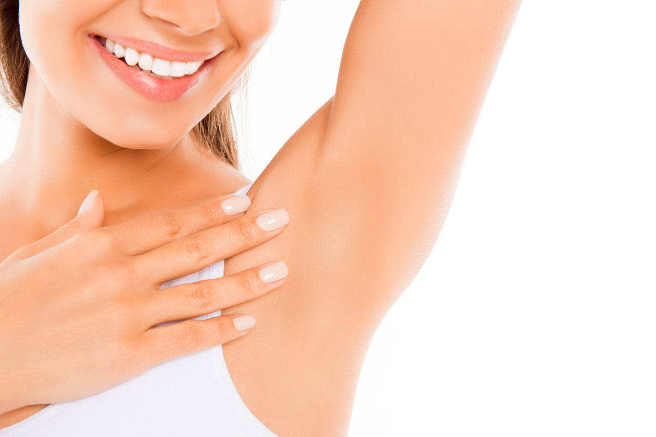smooth underarm after hair removal